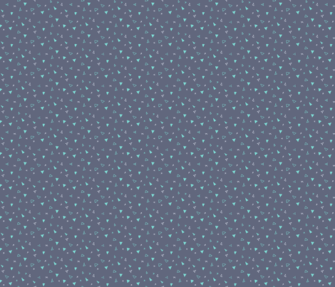 Ditsy Triangles fabric by jennjersnap on Spoonflower - custom fabric
