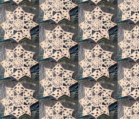 Artful Dwelling Vintage Snowflakes fabric by patricia_tisdale_parrott on Spoonflower - custom fabric