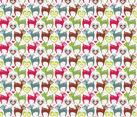 My Deer fabric by tradewind_creative on Spoonflower - custom fabric