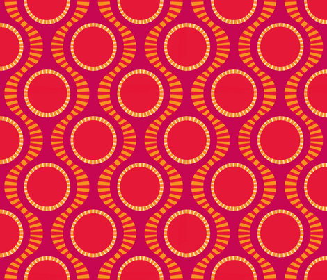 Coral Clementines fabric by keweenawchris on Spoonflower - custom fabric