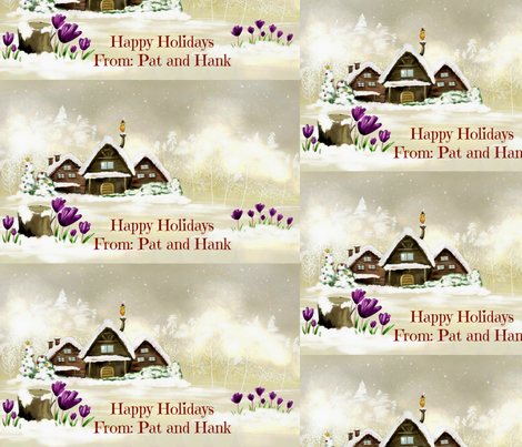 Artful_Dwelling_Christmas_House-ed fabric by patricia_tisdale_parrott on Spoonflower - custom fabric