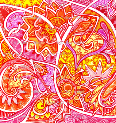 Psychedelic Paisley Love Trip