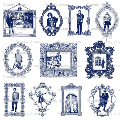 Timey Wimey Toile in   Blue