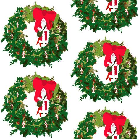 Christmas, Santa Wreaths