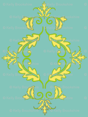 Flight of the Poppins Damask_small repeat_sans poppins