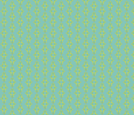 Flight of the Poppins Damask_small repeat_sans poppins fabric by kfrogb on Spoonflower - custom fabric