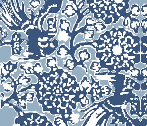Vuelo Azul fabric by studiokym on Spoonflower - custom fabric
