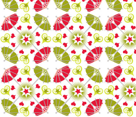 Umbrella_Square_8x8 fabric by firebelle on Spoonflower - custom fabric