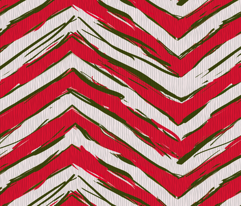 Peppermint Chevrons fabric by wren_leyland on Spoonflower - custom fabric