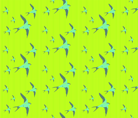 birds fabric by policunha on Spoonflower - custom fabric