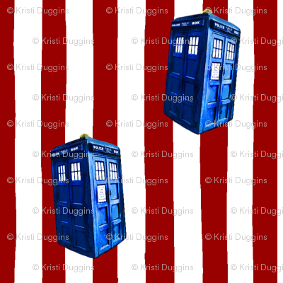 Doctor Who TARDIS Inspired Christmas Candy Cane Stripes