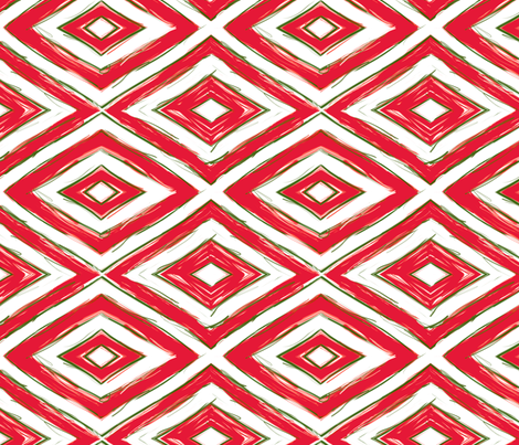Peppermint-diamonds fabric by wren_leyland on Spoonflower - custom fabric