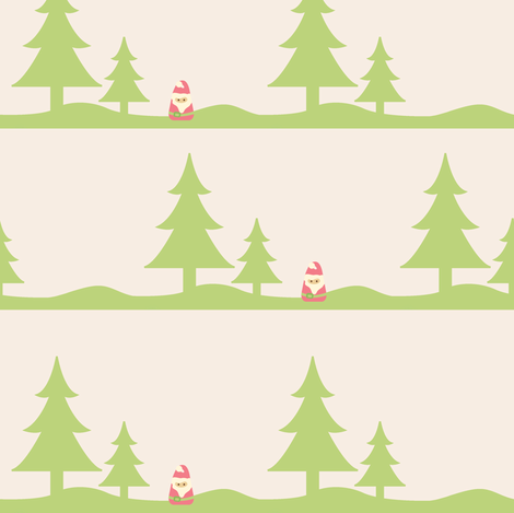 The Lone Santa fabric by sugarxvice on Spoonflower - custom fabric