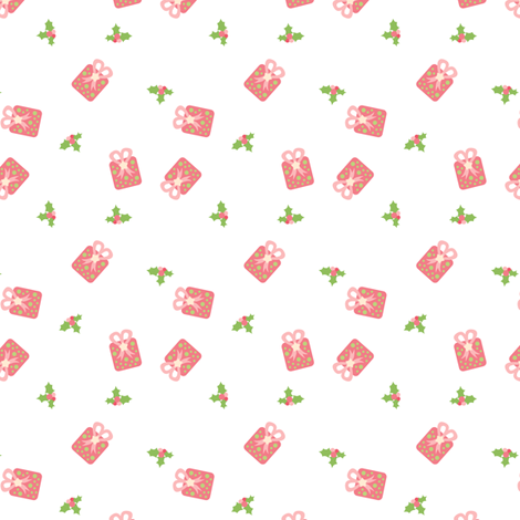 Gifts and Holly fabric by sugarxvice on Spoonflower - custom fabric