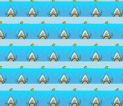 shark versus duck fabric by andybee on Spoonflower - custom fabric