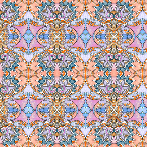 Morning Glory Onion Dome Collision fabric by edsel2084 on Spoonflower - custom fabric