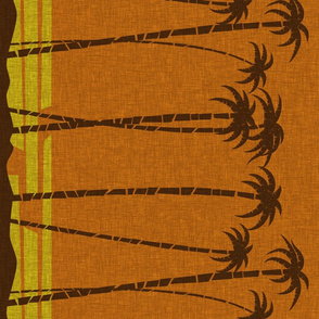 Tiki Beach Border - narrow