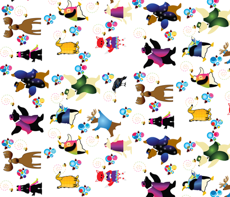 Buddies_and_Bees fabric by strauberry on Spoonflower - custom fabric