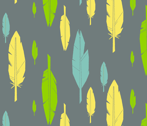 feathers fabric by edlasher on Spoonflower - custom fabric