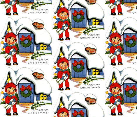 Vintage Elf fabric by tulsa_gal on Spoonflower - custom fabric