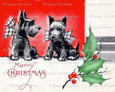 Holiday Scottie Dogs