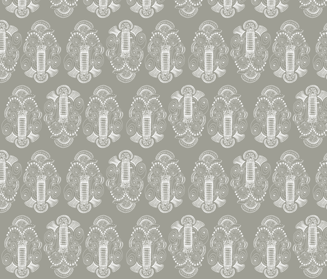Belle Epoque, White on Stone fabric by janet_antepara on Spoonflower - custom fabric