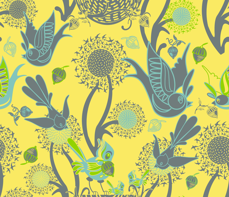 Bringing Home the Acorns fabric by chickoteria on Spoonflower - custom fabric
