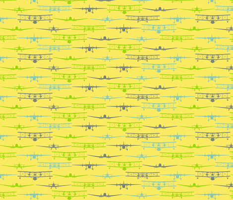 I Dream of Flying 2 - yellow fabric by ruthevelyn on Spoonflower - custom fabric