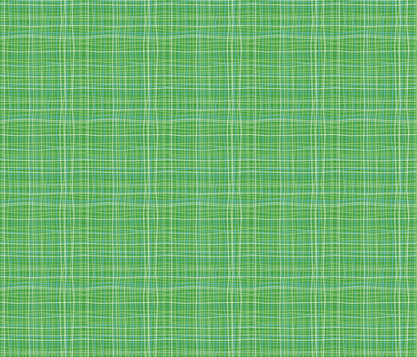 Wavy Wovens Green fabric by melaniesullivan on Spoonflower - custom fabric