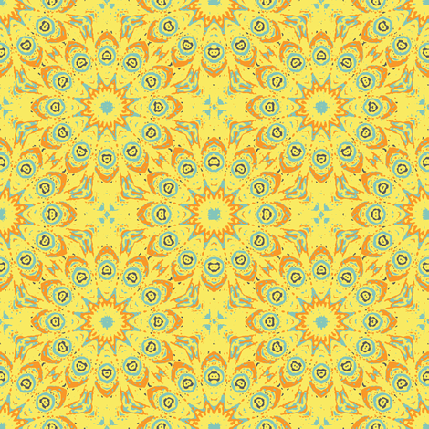 fancy_flowers-ye fabric by kerryn on Spoonflower - custom fabric