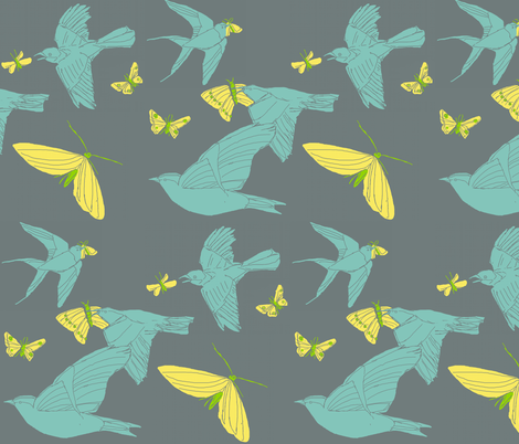birdsatnight fabric by amordenti on Spoonflower - custom fabric