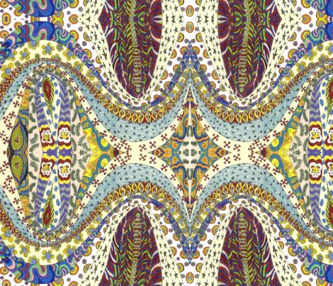 Butterflies___Cream fabric by deborah_palmarini on Spoonflower - custom fabric