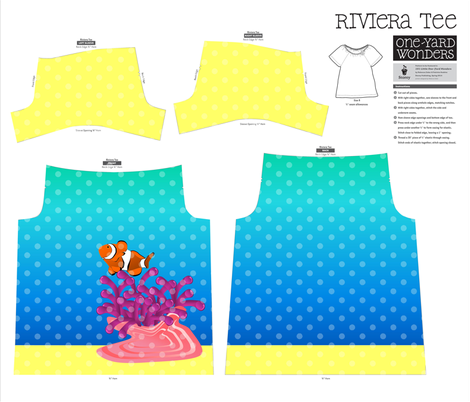 Under The Sea - Riviera Tee Design fabric by enf on Spoonflower - custom fabric