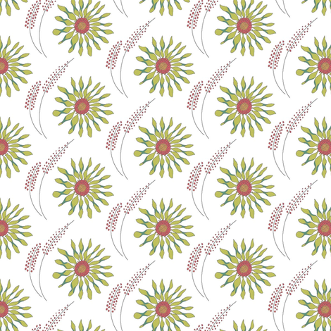 flower_heads_v2-02 fabric by ivoryshades on Spoonflower - custom fabric