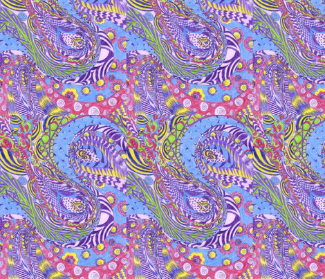 Lavender_Swirl fabric by deborah_palmarini on Spoonflower - custom fabric