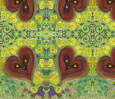One_Love fabric by deborah_palmarini on Spoonflower - custom fabric