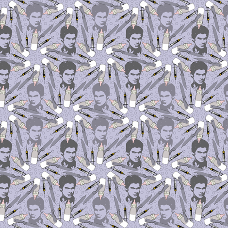 Dexter in violet fabric by susiprint on Spoonflower - custom fabric