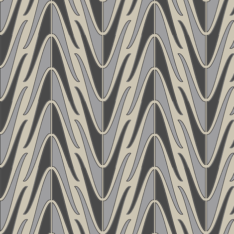 a_game_of_shells_greys fabric by david_kent_collections on Spoonflower - custom fabric