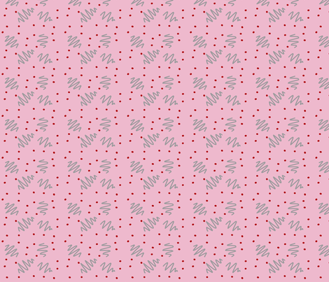 Pink ziggy dot fabric by pmegio on Spoonflower - custom fabric