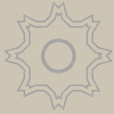 Kabbalah Star (Taupe)