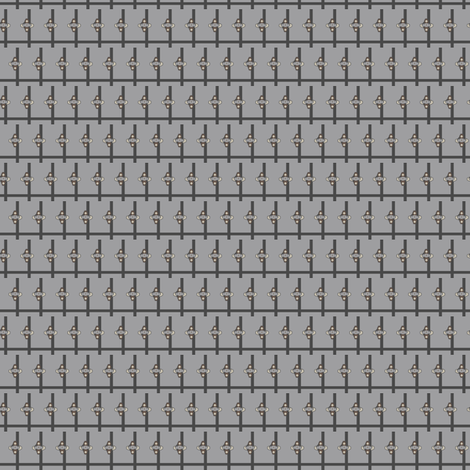 Indian Crosshatch (Greys) fabric by david_kent_collections on Spoonflower - custom fabric
