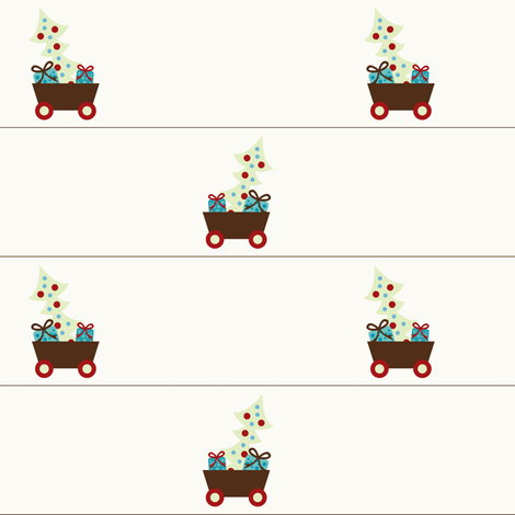 Christmas Cart fabric by sugarxvice on Spoonflower - custom fabric