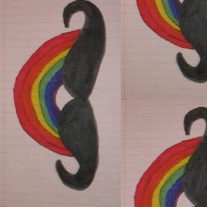 colorful mustache