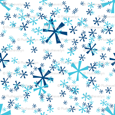 Winter Wonderland Snowflakes - white