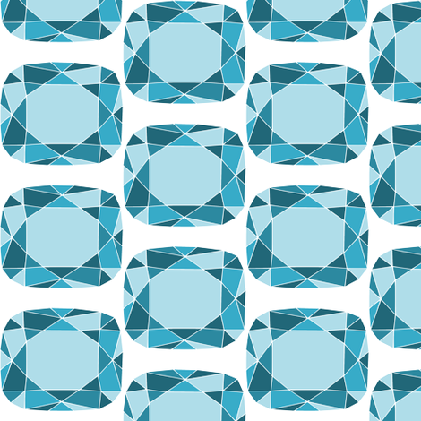 Blue gem fabric by blondfish on Spoonflower - custom fabric