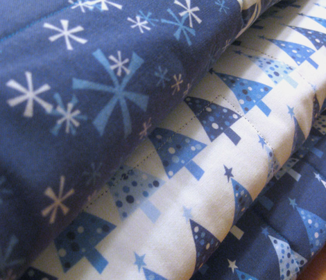 Winter Wonderland Trees - small print - navy