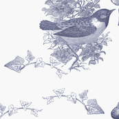 Viole tBirds and Nest Toile