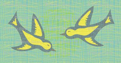 Doves on linen