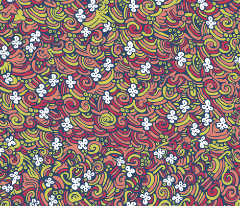 Field of flowers fabric by janicesheen on Spoonflower - custom fabric