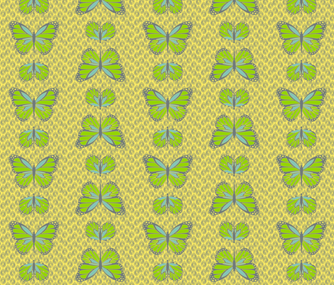 Cocoon Butterflies Lemon fabric by designedtoat on Spoonflower - custom fabric